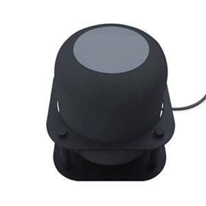 Meres Aluminium Abnehmbare Wandhalterung Halter Ständer Halterung für Apple HomePod Lautsprecher (Schwarz)