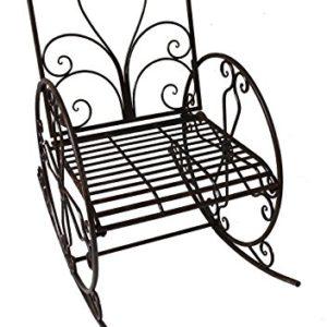 Garten Schaukel Stuhl Rost Optik Schwing Sessel Antik Vintage Stil Möbel Dekoration Harms 950397