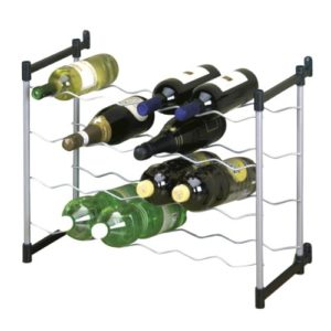 Metaltex 383724039 Flaschenregal für 24 Flaschen 59 x 26 x 45 cm Cabernet