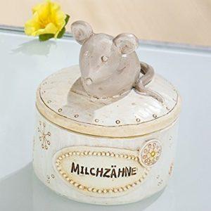 Milchzahndose MAUS Aufbewahrung Milchzähne Blume