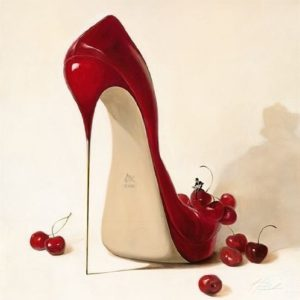 Mini-Bild – Inna Panasenko: Cherry Love 14 x 14 cm