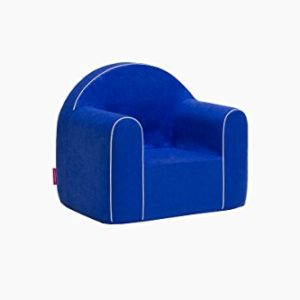Mini Kindersessel Kinder Babysessel Baby Sessel Sofa Kinderstuhl Stuhl Schaumstoff Umweltfreundlich (Blau)