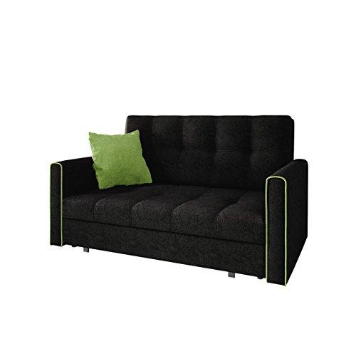 mirjan24 sofa viva bis iii mit schlaffunktion bettsofa 3 sitzer polstersofa mit bettkasten. Black Bedroom Furniture Sets. Home Design Ideas