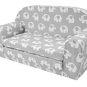 MuseHouse Kinderschlafsofa Kindersofa mit Bettfunktion Couch Kindermöbel Ausklapp Kindersessel, zum Schlafen und Spielen…