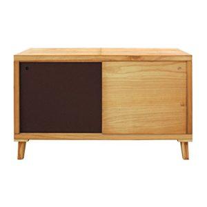 Mobili Rebecca® Schrank Fernsehtisch Flur Wohnzimmer 2 Schiebetüren Holz Braun Design Modern (Cod. RE6056)