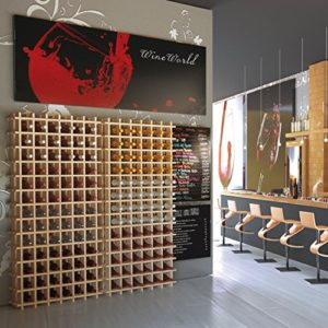 Modulares Weinregal System PRIMAVINO, Holz Kiefer natur, stapelbar / erweiterbar