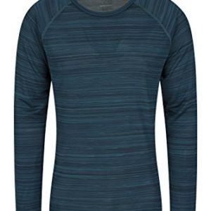 Mountain Warehouse Endurance Gestreiftes Herren-T-Shirt – Herrenoberteil mit LSF40, leicht, schnelltrocknendes T-Shirt…