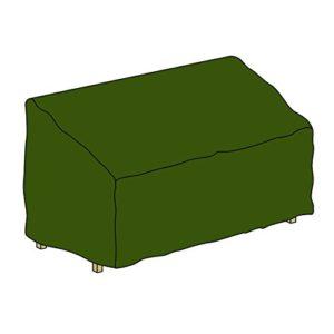 Nexos Schutzhülle für Gartenbank Abdeckhaube Abdeckplane 150 x 62 x 90 cm aus Polyester wasserdicht grün