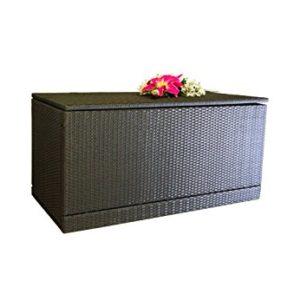 Nexos Wäschebox Kissenbox Wäschetruhe Truhe Box Rattanbox Rattan Auflagenbox