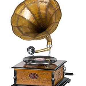 Nostalgie Grammophon Schellackplatte Gramophone Trichtergrammophon antik Stil