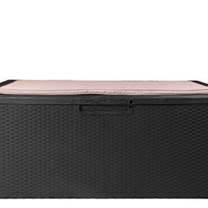 Ondis24 Kissenbox Portonovo mit Sitzkissen 350L Auflagenbox Sitztruhe Gartenbox