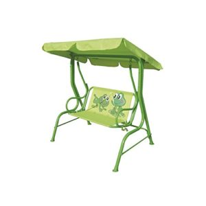 Ozalide Gartenschaukel für Kinder Frosch–L. 115cm–grün