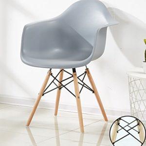 P&N Homewares® Romano Da Moda Wanne Stuhl Kunststoff Retro Esszimmer Stühle weiß schwarz grau rot gelb grün