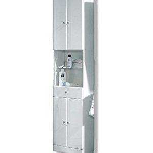 PELIPAL 954 Small Hochschrank, Holzdekor, Weiß Hochglanz, 20,0 x 50,0 x 188,5 cm