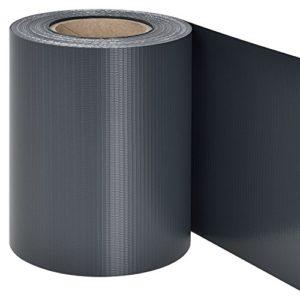 Juskys PVC Sichtschutzstreifen Doppelstabmatten Zaun | 35m x 19 cm | 30 Befestigungsclips | anthrazit | Zaunfolie…