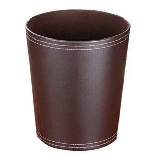 Papierkörbe Vintage, OviTop Retro Abfalleimer Wasserdicht Haushalt Leder Mülleimer Dekorativ Papierkorb für Büro/ Bad…