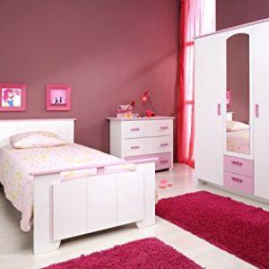 """Parisot Kinderzimmer-Set 4-tlg """"Biotiful 12"""" Rosa-Weiß"""