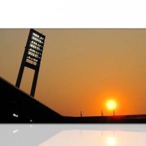 Paul Sinus Art Wandbilder XXL (weser stadion werder bremen 130x70cm) Kunstdruck auf Leinwand und Rahmen – Weitere schöne Foto Bilder im Bild Online Shop.