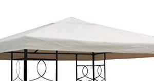 Spetebo Pavillon Ersatzdach 3×3 Meter – beige – wasserdicht – Pavillondach