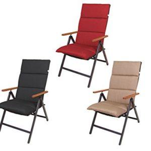 Spetebo Polster Auflage für Hochlehner – Sitzkissen – Gartenstuhlauflage Stuhlkissen