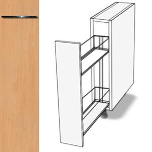 Premium-Ambiente AAAAA001 Unterschrank Apothekerschrank Vollauszug Softclosing FE (Breite 18cm, 01 Concrete dunkelgrau)