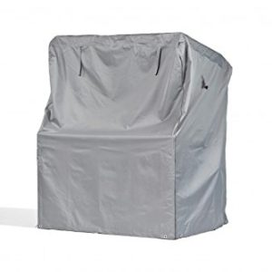 Premium Schutzhülle für Strandkorb aus Polyester Oxford 600D – lichtgrau – von 'mehr Garten' – Größe XL (Breite: max. 150cm)