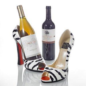 Pure. Lifestyle – Wein High Heel aus Porzellan, 2-teilig Set Weinregal Ständer Rotwein Halter, Kreativ Porzellan Weinflaschenhalter, Weihnachten Geschenk