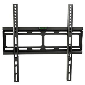 RICOO F0244, TV Wandhalterung, Flach, Fix, Ultra-Slim, Universal 26-55 Zoll (66-140 cm) TV-Halterung, LCD/Curved/LED Fernseher, VESA 400×400, Schwarz