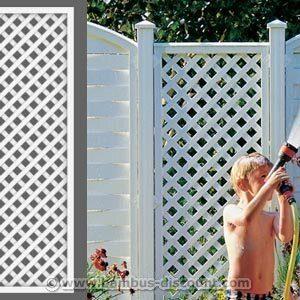 bambus-discount.com Rankgitter, Longlife weiß, 180 x 60cm aus Kunststoff – Sichtschutz, Sichtschutz Elemente…