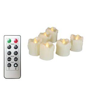 Realistisch Flackernde Teelichter LED mit Timer und 10-Tasten-Fernbedienung