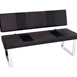 Reality Import Santa Bari Sitzbank, Kunstleder, schwarz, 140 x 58 x 85 cm