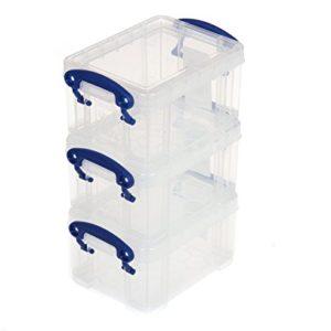Really Useful Box 0,3Liter, 3Stück Sortiert–Farbe: Klar