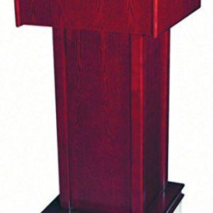 Kerafactum Rednerpult Stehpult Rednerstation Podium Kanzel Holz mit Rollen und abschließbarem Fach