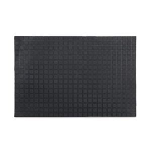 Relaxdays Gummi Fußmatte 60 x 40 cm Fußabtreter komplett aus Gummimaterial mit Anti-Rutsch-Funktion Schmutzfangmatte zum Abtreten Outdoor Gummimatte als Schmutzmatte und Tür Eingangsmatte, schwarz