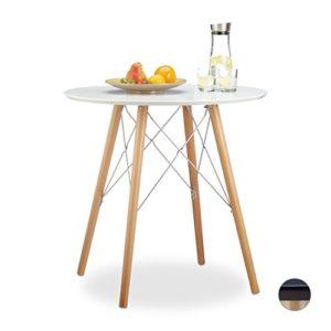 Relaxdays Küchentisch klein Arvid 72 x 75 x 75 cm HxBxT, Esstisch f. kleine Küche, Holztisch nordisch, versch. Farben