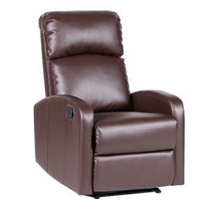 SVITA Relaxsessel Fernsehsessel Ruhesessel mit Verstellbarer Beinablage und Liege-Funktion – Kunstleder oder Polyester Farbwahl