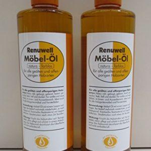 Renuwell Spar-Set 2x Möbelöl 500 ml Möbelpflege von Geizhaus24