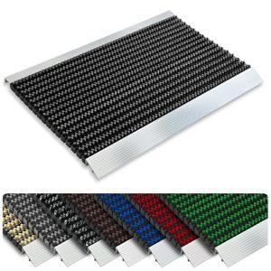 Floordirekt PRO Repräsentative Fußmatte Profi Brush – Testurteil Sehr Gut – Schmutzfangmatte mit Alu Rahmen für außen…