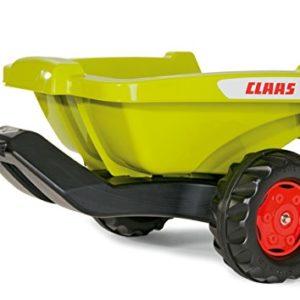 Rolly Toys 128853 rollyKipper II Claas Anhänger | Einachsanhänger mit Kippfunktion | für Kinder ab 2,5 Jahren | Farbe grün/schwarz