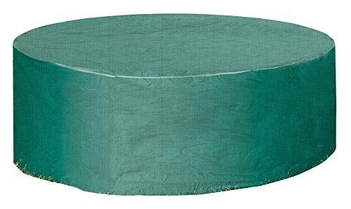 Royal Gardineer Abdeckung Sonneninsel: Gewebe-Abdeckplane für Gartentisch & Sonneninsel, 250 x 90 cm (Ø x H) (Whirlpoolabdeckung)