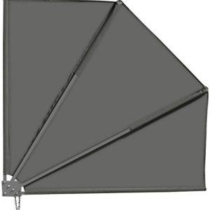 Royal Gardineer Sichtschutzfächer: Sichtschutz-Fächer für Balkon, 140 x 140 cm, anthrazit (Sonnenfächer)