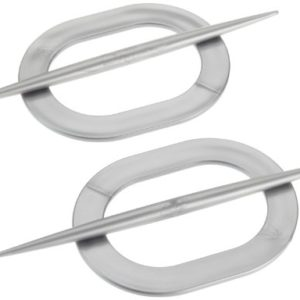 Ruco V513 Deko-Raffhalter, oval, 2-er Set, silber