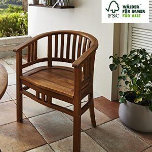 SAM Garten-Sessel Karlebo, Sessel aus Akazien-Holz, Stuhl für Balkon Terrasse, Gartenmöbel