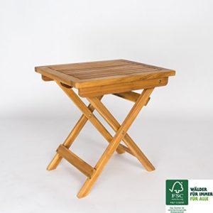 SAM Garten- Sitzhocker Blossom aus Akazienholz Massiv, geschliffen & geölt, FSC® 100%, ergänzt jedes Balkon-Set