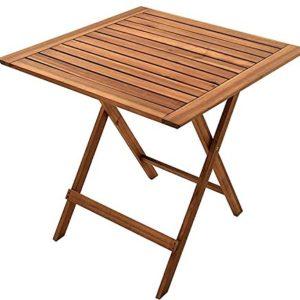 SAM Gartentisch 60×60 cm Blossom, klappbar, Akazien-Holz, für Balkon und Garten