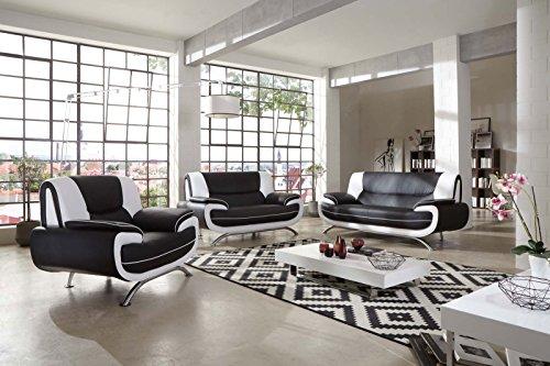 sam sessel passero schwarz wei couch aus kunstleder modernes design m bel accessoires und. Black Bedroom Furniture Sets. Home Design Ideas