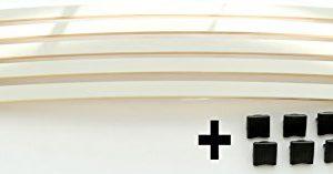 BOSSASHOP.de Set: Federholzleisten + Befestigungs Kappen zur Selbstmontage für Futon, Bett oder Caravan | Stärke/Höhe…