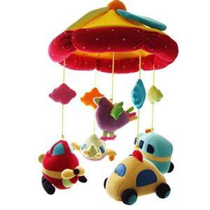 SHILOH Deluxe Baby Plüsch Kinderbett Mobile mit 60 Songs Spieluhr und arm