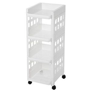 SONGMICS Rollwagen Rollregal aus Kunststoff PP Allzweckwagen platzsparend für Küche Bad Aufbewahrung Küchenwagen…