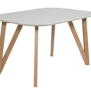 SalesFever Esszimmertisch Aino, Küchentisch in grau, 120 x 80 cm, furnierter Esstisch, pflegeleichter & Abgerundeter…